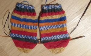 sokken twee tegelijk breien